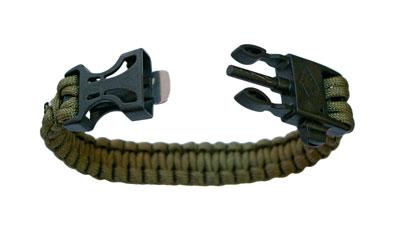 Highlander Paracord Bracelet With Whistle /& Firesteel